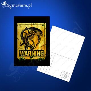 Pocztówka Alien Warning!