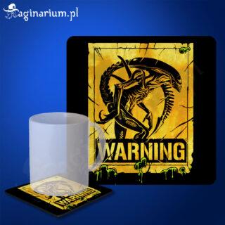 Podstawka pod kubek Alien Warning!