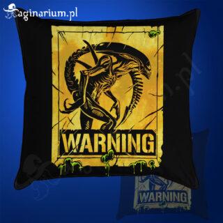 Poduszka Alien Warning!
