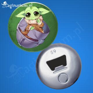 Otwieracz Baby Yoda w hełmie