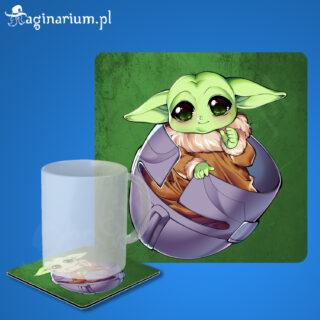 Podstawka pod kubek Baby Yoda w hełmie