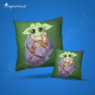 Poduszka Baby Yoda w hełmie