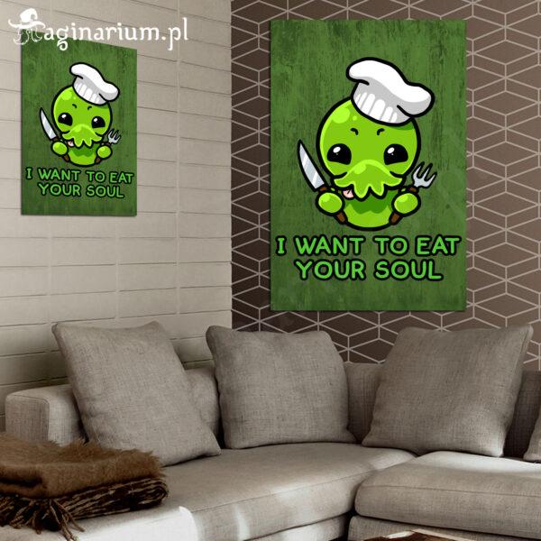 Plakat Cthulhu i want to eat your soul