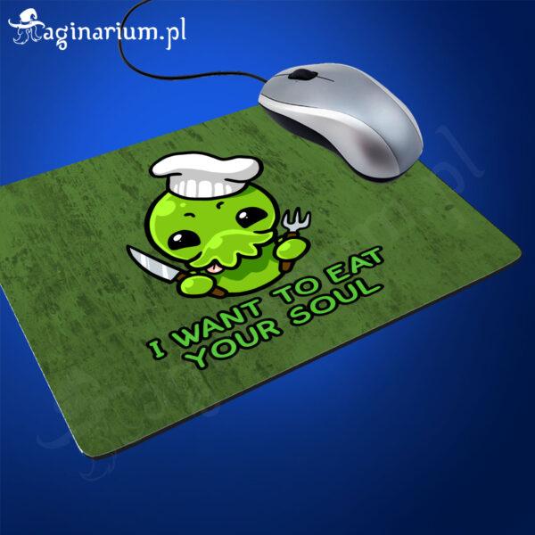 Podkładka pod mysz Cthulhu i want to eat your soul