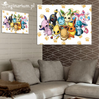 Plakat Pokemony Eevee Rodzinka
