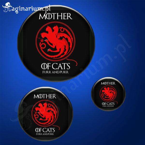 Przypinka Mother of Cats